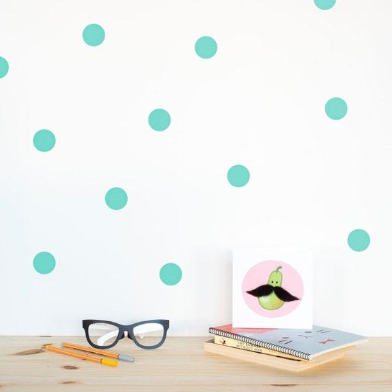 Gold Polka Dots Decals, black wall dots, home decor, polka dot ...