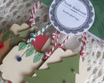 Set of Miniature Christmas Gift Tags