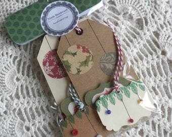 Set of Ornaments Gift Tags