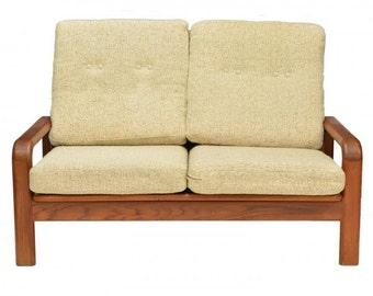 SALE! - Midcentury Danish Modern teakwood frame sofa- SALE 299.00