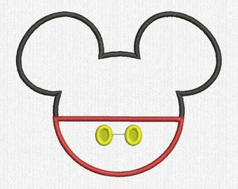 Mickey & Minnie Fill and Applique Embroidery Design