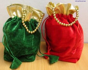 Indian Wedding Return Gift Bags : draw string bags gift bags return gift bags potli bags party bags ...