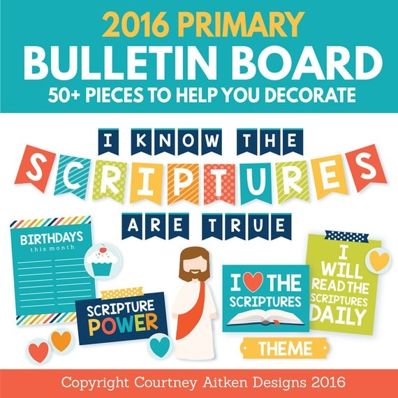 40% Off! 2016 LDS Primary Bulletin Board Printables (Regularly 7.99)