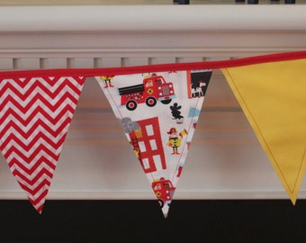 Firefighter Fabric Pennant Bunting