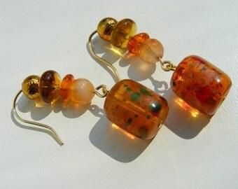 Autumn Colors Dangle Earrings