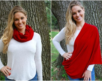 Red Nursing Scarf