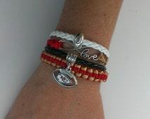 Unique chiefs bracelet related items | Etsy