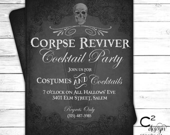 Corpse Reviver Cocktail Party Invitation