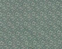Sage Green Tone on Tone Print Cotton Fabric / 1 yard
