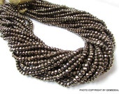 4 mm Natural GOLDEN PYRITE 13.5 inch ( LOTS 1,3,5 or 10 strand ) roundel micro faceted beads.....