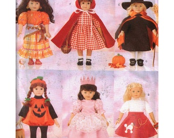 "Butterick Sewing Pattern 5661 18"" Doll Halloween Costumes"