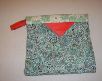 Blue Paisley Slap Purse