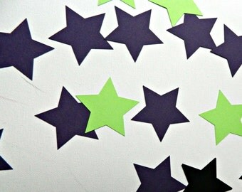 Simple Star paper die cuts, cardstock punch outs for party decorating & diy craft supplies choose amount and color patriotic table confetti