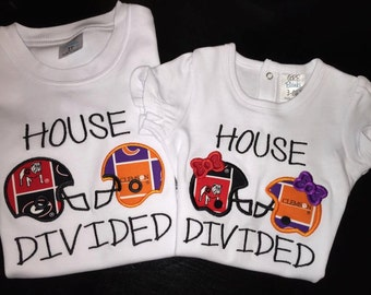 House Divided Football Shirt or Body Suit