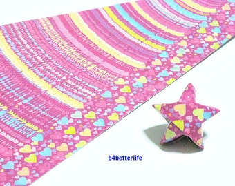 120 Strips of Maroon Color DIY Origami Paper Folding Kit For Folding The Big Lucky Stars. 34cm x 1.8cm. (KZ paper series). #Heart. #SPK-136.