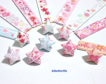 250 strips of DIY Origami Lucky Stars Paper Folding Kit. 26cm x 1.2cm. #A072. (XT Paper Series).