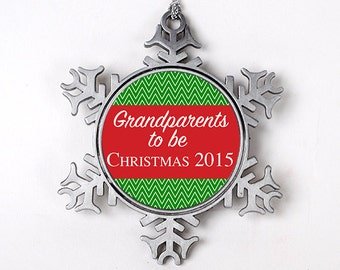 Grandparents to be Christmas Ornament - Personalized Christmas Ornament - Grandparents Christmas Ornament - Grandpa & Grandma Christmas Gift
