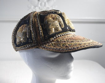 vintage Beaded elephant hat