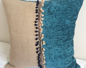 Lovely two tone cushion cover made from chenille fabric