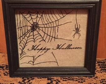 Happy Halloween Stitched Sampler