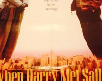When Harry Met Sally Movie Poster 1989 27X40 Meg Ryan Billy Crystal Comedy