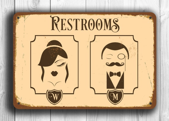 Bathroom Signs Male Female restroom sign restroom signs toilet sign male female