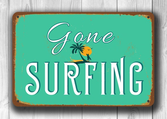 Beach Tin Metal Sign Summer Vacation Ocean Florida Pool