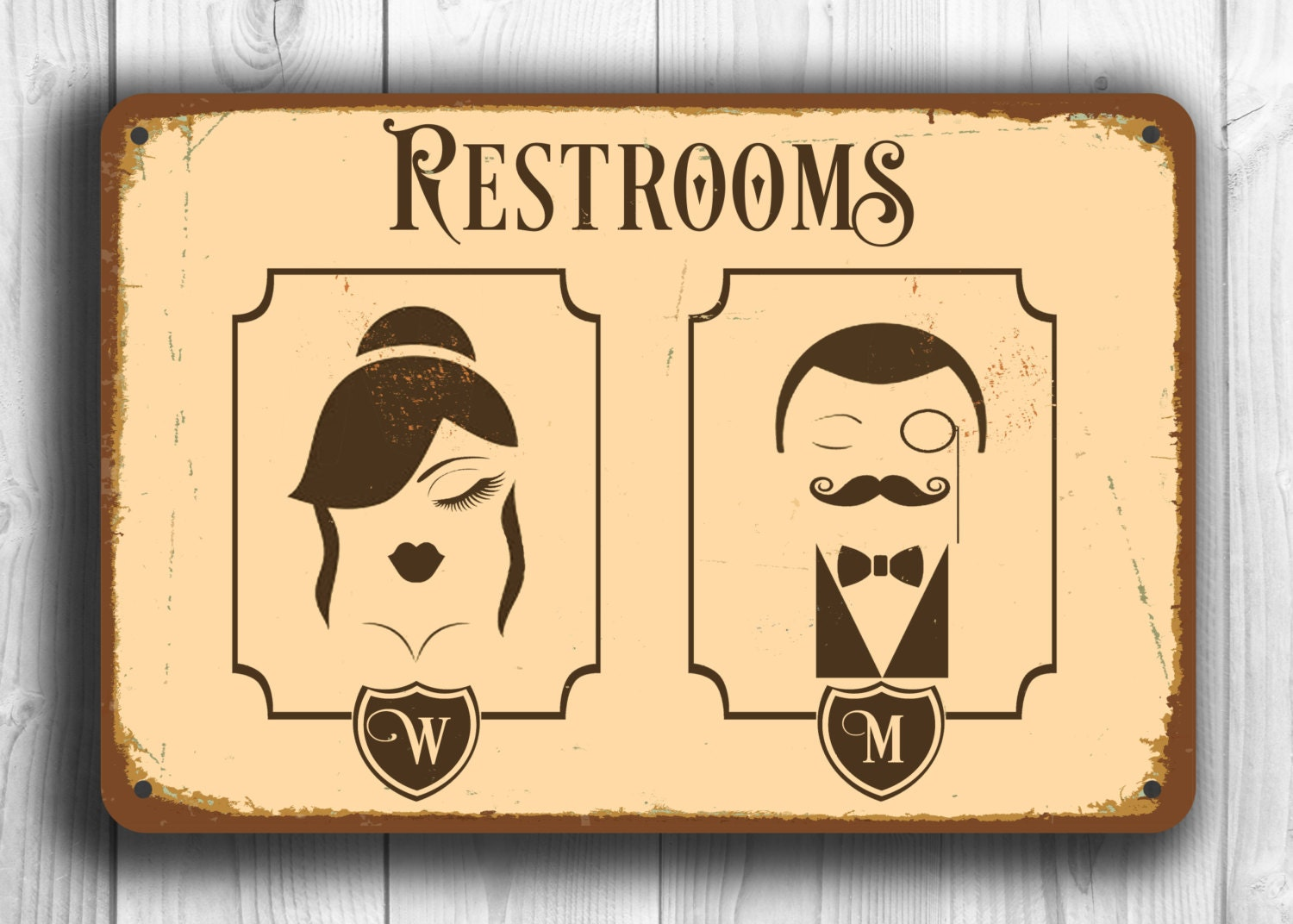 RESTROOM SIGN Restroom Signs Toilet Sign Male Female