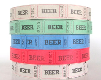 200 Beer Tickets, Numbered and Blank on Back, Wedding Reception Supplies, Reunion , Octoberfest Supplies