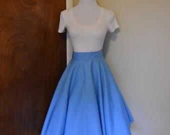 Sky Blue Homemade Circle Swing Skirt