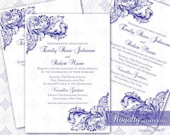 Wedding Invitation Printable Template | Printable Invitation 5x7 - Digital DIY | Royalty in Imperial