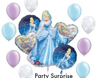 Cinderella Balloons Party Balloons Girl Birthday Party Princess Party
