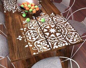 Mandala Style Stencil - Furniture Stencil - Wall Painting Stencils