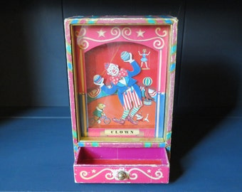 "Dancing Clown Otagiri Music Box, ""Send in the Clowns"" Japan 1982"