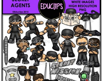 Secret Agents Clip Art Bundle