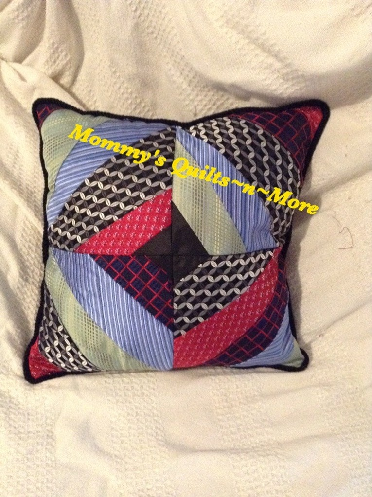 Men s Tie Throw Pillow memory gift grandpa father dad