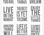 Gray Digital Project Life Quote Cards