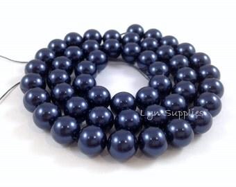 5810 NIGHT BLUE 4mm Swarovski Crystal Pearls 50pcs or 100pcs Small Round Pearls