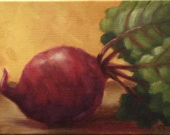 "Beet painting - Oil on canvas, ""Beet"""