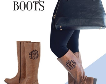 ON SALE Brooklyn Brown Boot*Monogrammed Boots*Bridesmaid Gifts*Personalized Boots*Preppy*Fall Fashion Must Haves*