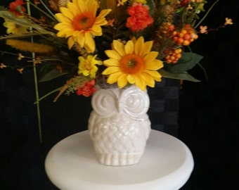 Owl Fall Silk Arrangement