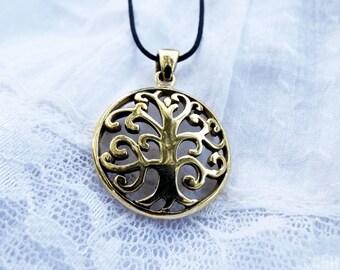 Tree of Life Pendant Handmade Bronze Necklace Jewelry