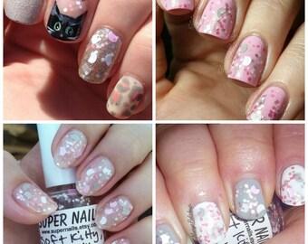 Soft Kitty, Warm Kitty ~ Indie Handmade Nail Polish 5-Free Glitter Lacquer