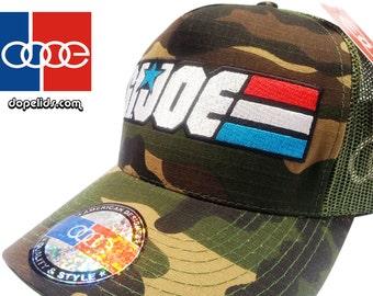 dopelids originals Army Military Camo Trucker Hat Vintage Style Skater DJ USA
