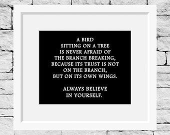 Believe in Yourself Quote, Life Quote, Believe in Yourself Print, Success Quote, Dreamer Print, Dreams Quote, Success Print, Classroom Print