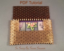 Beaded business card holder with SuperDuos