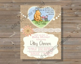 il_340x270.832202679_50pp classic pooh party etsy,Vintage Winnie The Pooh Invitations
