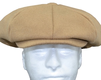 Melton Wool Mens Applejack Newsboy Driver Cap Made in USA One Size