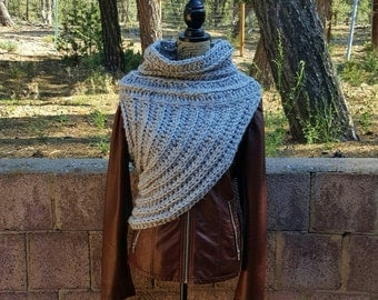 Crochet Huntress Crossbody Cowl // Hunger Games Inspired // Katniss Cowl // District 12 // Mockingjay Cowl // Archer Cowl // Chunky Cowl