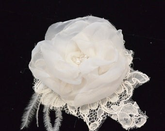 Organza Silk Hair Flower, Wedding Flower